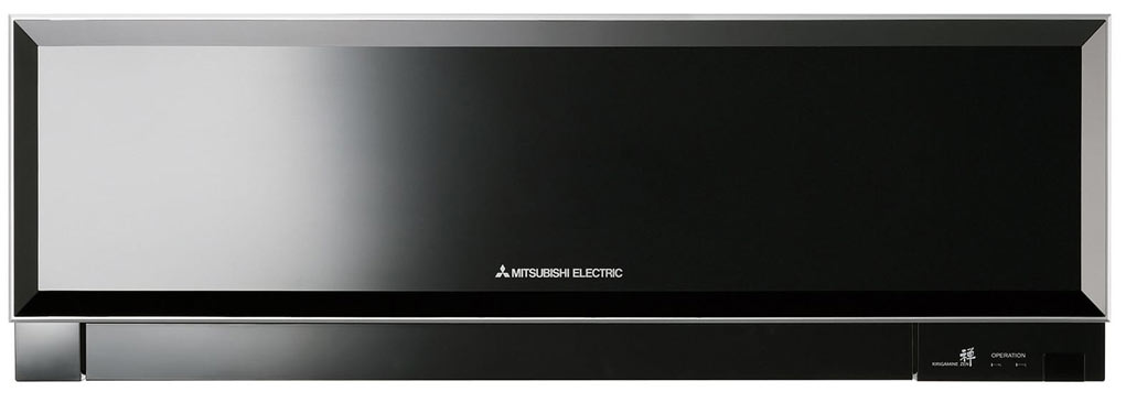 Black-Mitsubishi-Electrics-slimline-air-conditioner